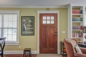Front Door, with Horseshoe for Luck