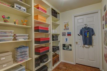 Downstairs School and Craft Closet
