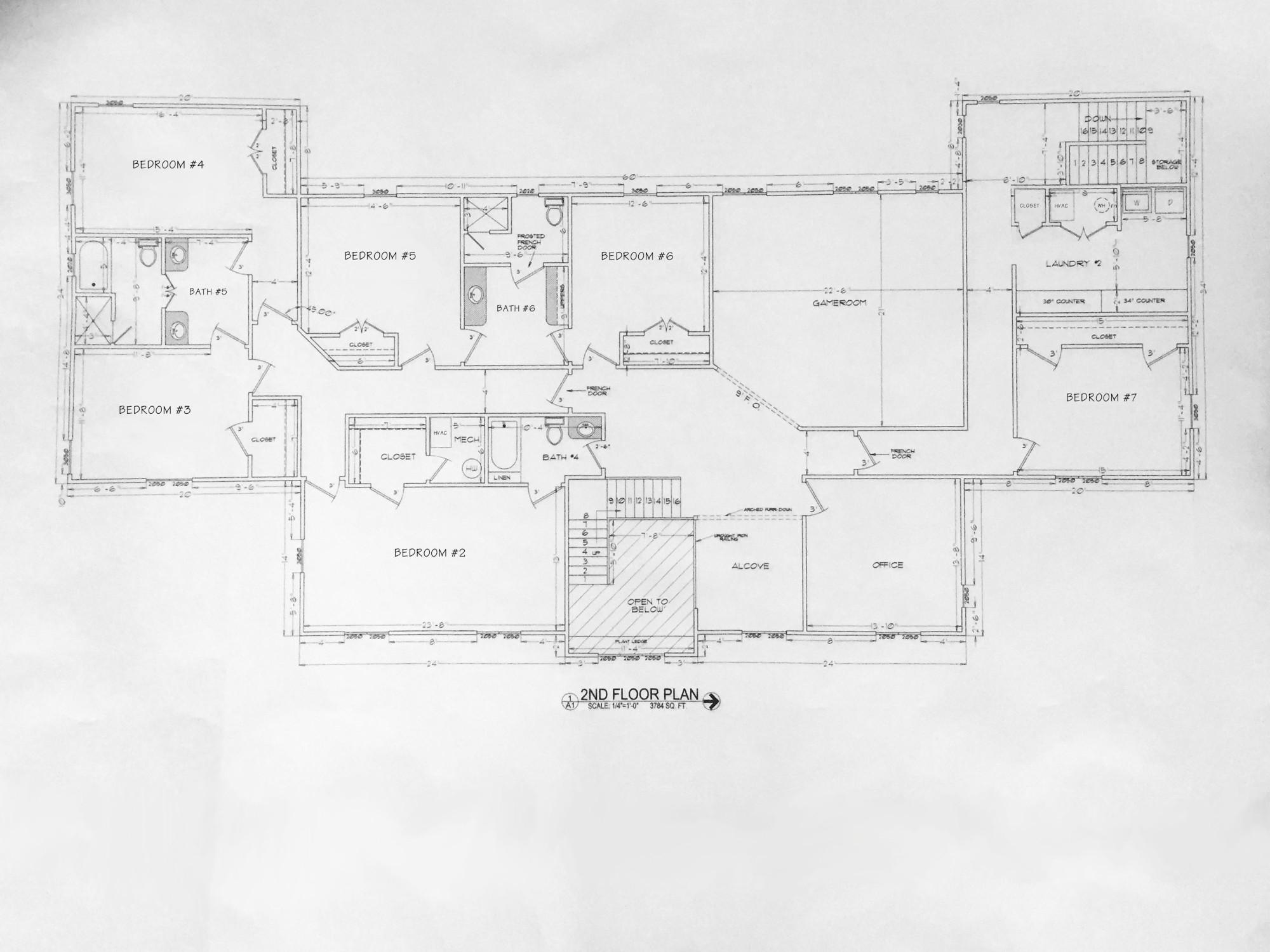 Farm House, 2nd Floor Plans
